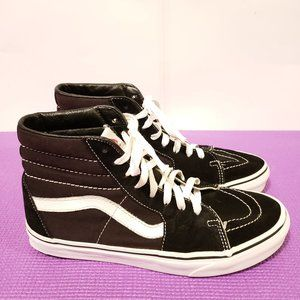 Vans Off The Wall High Top Black Suede Shoes